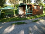 Rental - Wooden bungalow + WC 20 m² - Camping Le Saint Etienne