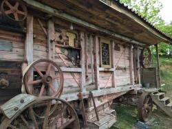 Unusual Accommodation Threshing Machine / Trailer