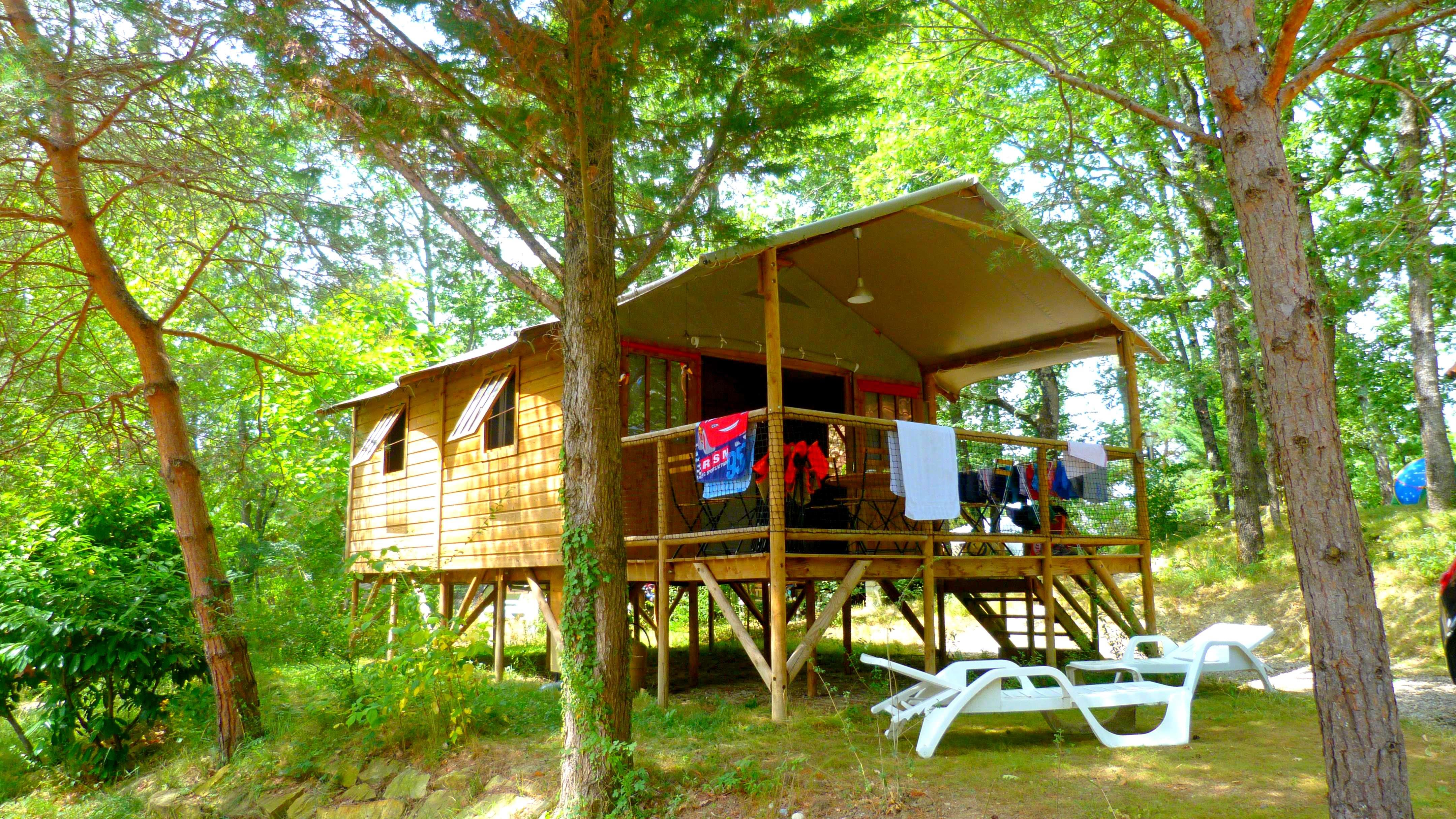 Wooden hut Lodge érable+ 35 m² with private facilities
