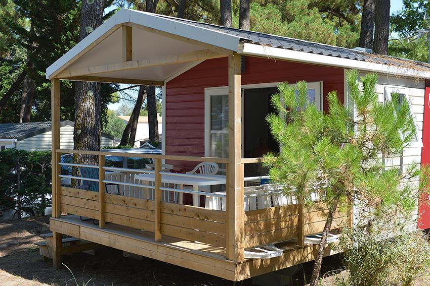 Location - « Mobil Home Crevette » 1 Chambre - Camping-Club Les Pins