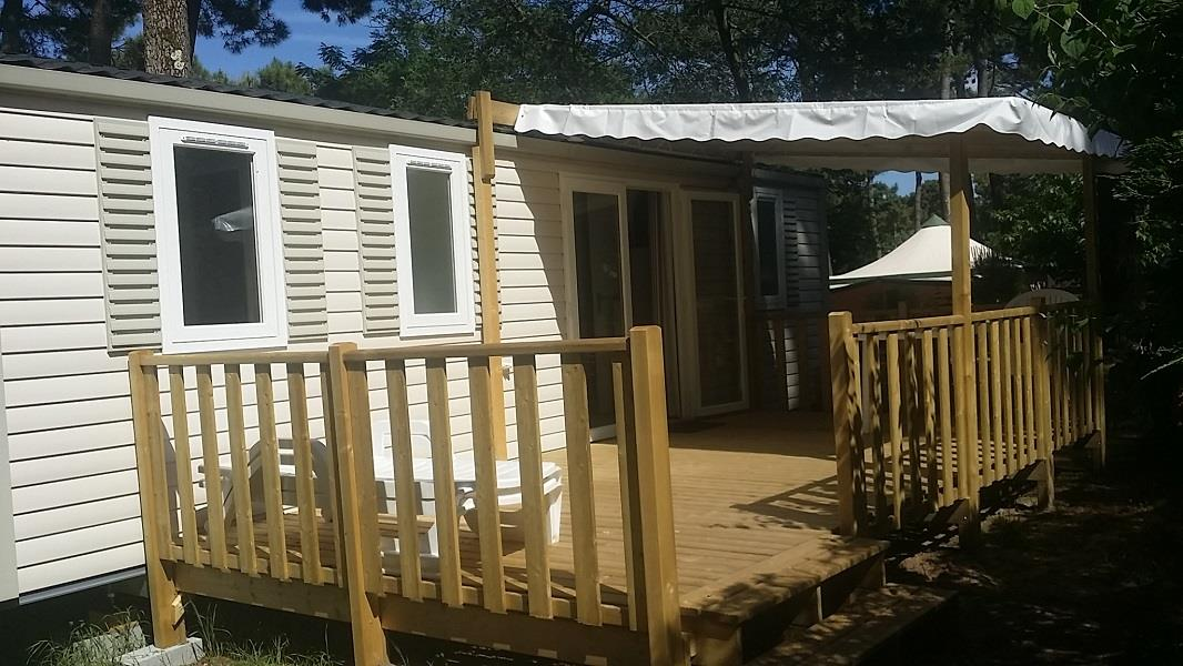 Location - « Mobil-Home Langouste » 3 Chambres - Camping-Club Les Pins