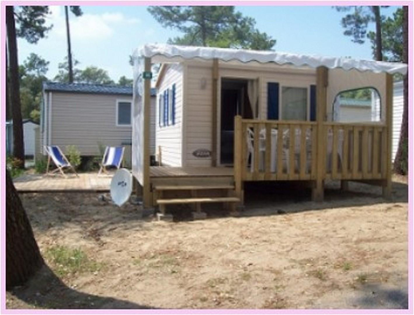 Location - « Mobil Home Krill » 1 Chambre - Camping-Club Les Pins