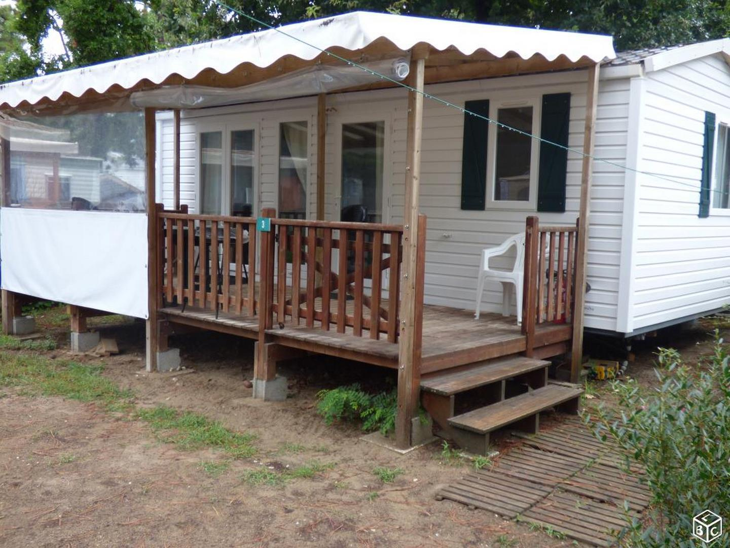 Location - « Mobil-Home Telline » 2 Chambres - Camping-Club Les Pins