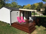 Rental - Mobil Home Sencilio With Toilet - Camping Audinac les Bains