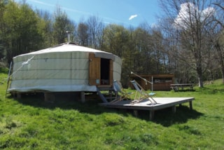 One week on our mobile home campsite including a night in a yurt with breakfast at 1200 m altitude