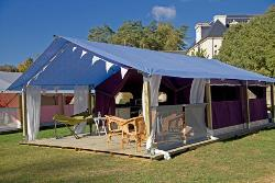 Tent Lodge- 37m² with sheltered terrace 13m², 2 bedrooms, without health