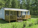 Rental - Mobil Home Family 3 Bedrooms, With Covered Terrace (6 Persons And 2 Vehicles Included) - Camping du Lac de Lislebonne