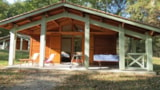 Rental - Chalet 3 Bedrooms, With Covered Terrace (6 Persons And 2 Vehicles Included) - Camping du Lac de Lislebonne