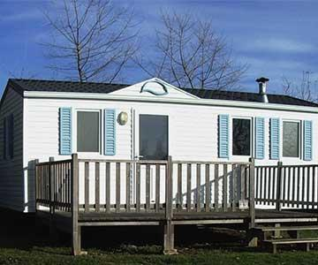 Mobile home Confort 2 bedrooms, with terrace (4 persons and 1 véhicle included)