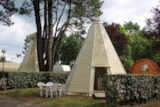 Rental - Tipi 21 M² - Without Toilet Blocks - Camping L'Étang du Pays Blanc