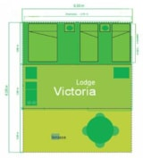 Rental - Lodge Victoria 30 m² (2 bedrooms) - without toilet blocks - Camping L'Étang du Pays Blanc