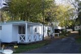 Rental - Mobile home (2 bedrooms) + sheltered terrace - Camping L'Étang du Pays Blanc