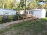 Rental - Mobile-Home Adapted To The People With Reduced Mobility 2 Rooms + Sheltered Terrace - Camping L'Étang du Pays Blanc