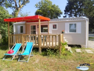 Mobilhome (3 Bedrooms) Sheltered Terrace Confort (Tv, Barbecue, Sheets Provided)