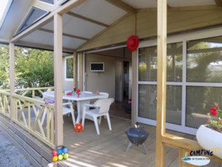 Chalet 35m² (3 bedrooms) sheltered terrace CONFORT (TV, Barbecue, Sheets provided)