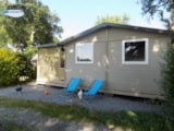 Rental - Chalet 35m² (3 bedrooms) sheltered terrace CONFORT (TV, Barbecue, Sheets provided) - Camping L'Étang du Pays Blanc