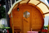 Rental - Barrel (1 Bedroom) Without Toilet Block - Camping L'Étang du Pays Blanc