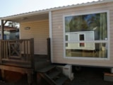Rental - Mobile home + sheltered terrace - Camping L'Étang du Pays Blanc