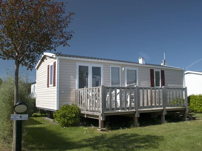 Location - Mobilhome Confort 31M² - 3 Chambres - Terrasse - Camping Le Mat