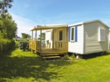 Rental - Mobilhome Comfort Plus 27M² - 2 Bedrooms - Covered Patio - Flower Camping Le Mat