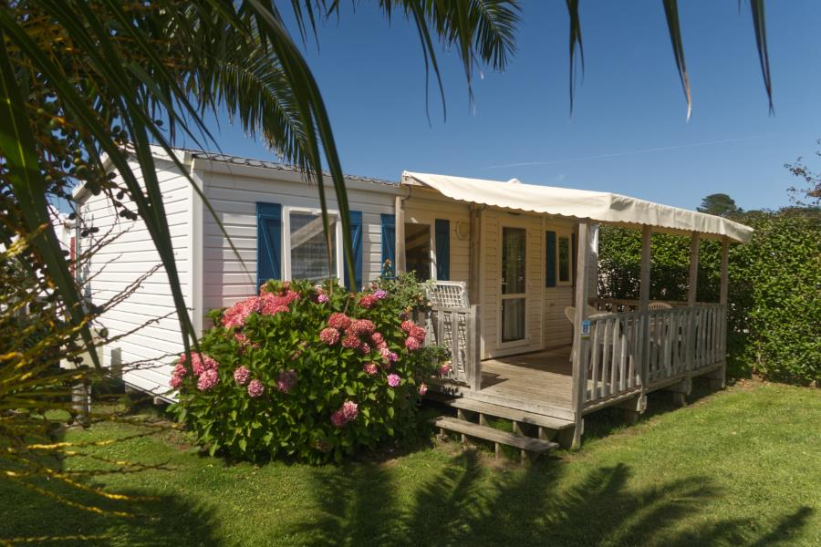 Location - Mobilhome Confort Plus 31M² - 3 Chambres - Terrasse Couverte - - Camping Le Mat