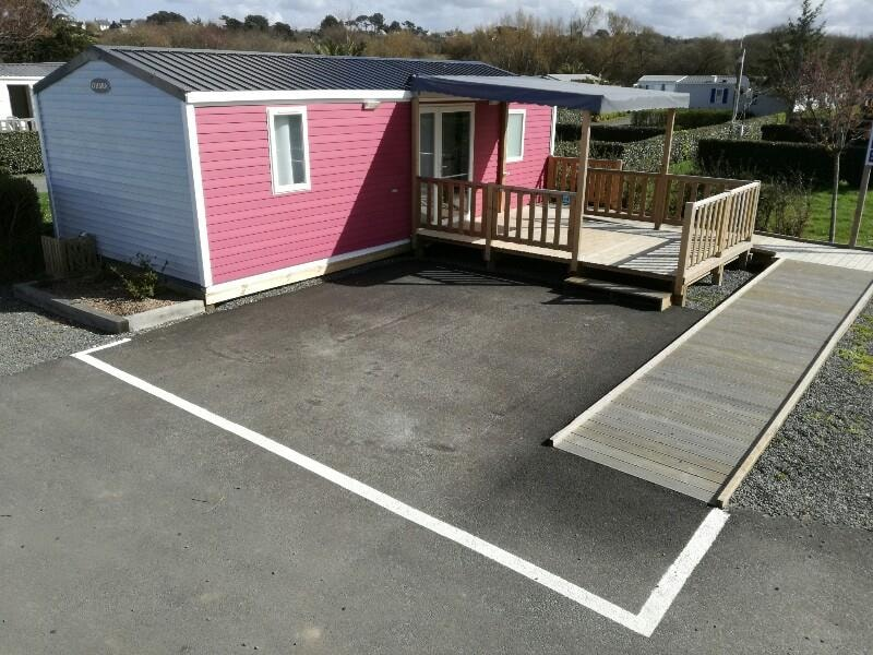 Mobilehome Premium 31m² - sheltered terrace - Wheelchair friendly