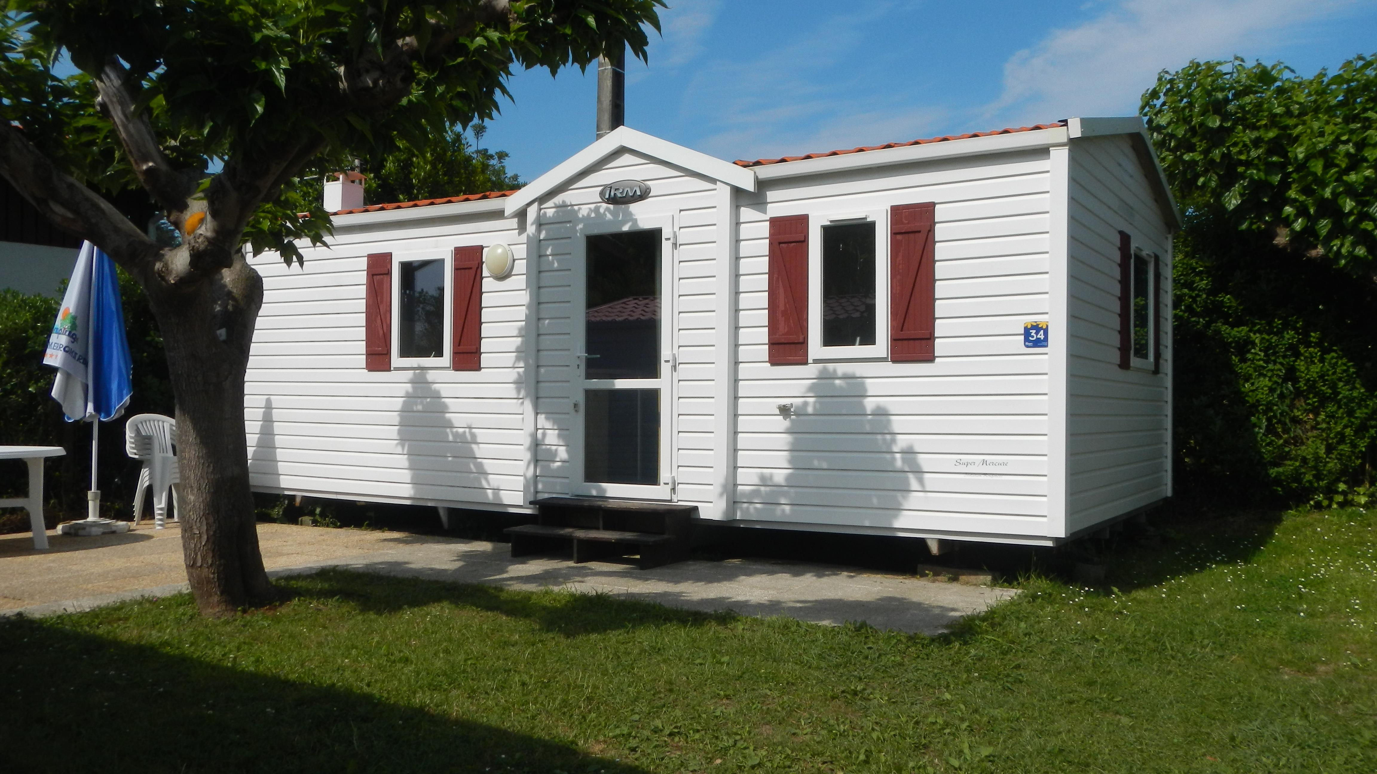 Rental - Mobil-Home Super Mercure Eco 27.5M² - Flower Camping La Ferme Erromardie