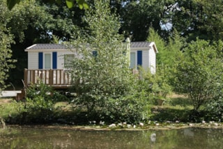 Mobil home by a pond Comfort 29m² (2 bedrooms) terrace
