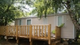 Rental - Mobil home by a pond Comfort 29m² (2 bedrooms) terrace - Flower Camping Les Étangs Mina***