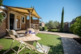 Rental - Mobile Home Premium Pinewood-Side - Camping des Mûres
