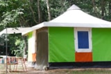 Rental - Canvas bungalow 16m² without private facilities 2 bedrooms - Camping du Chêne Vert