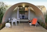 Rental - Coco Sweet 16m² without toilet block 2 bedrooms - Camping du Chêne Vert