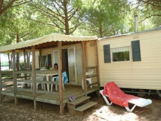 Mobile home 38m² sheltered terrace 2 bedrooms Wednesday