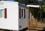 Rental - Mobile home Domino 26m² (2 bedrooms) + sheltered terrace 11m² - Camping L'Etoile de Mer