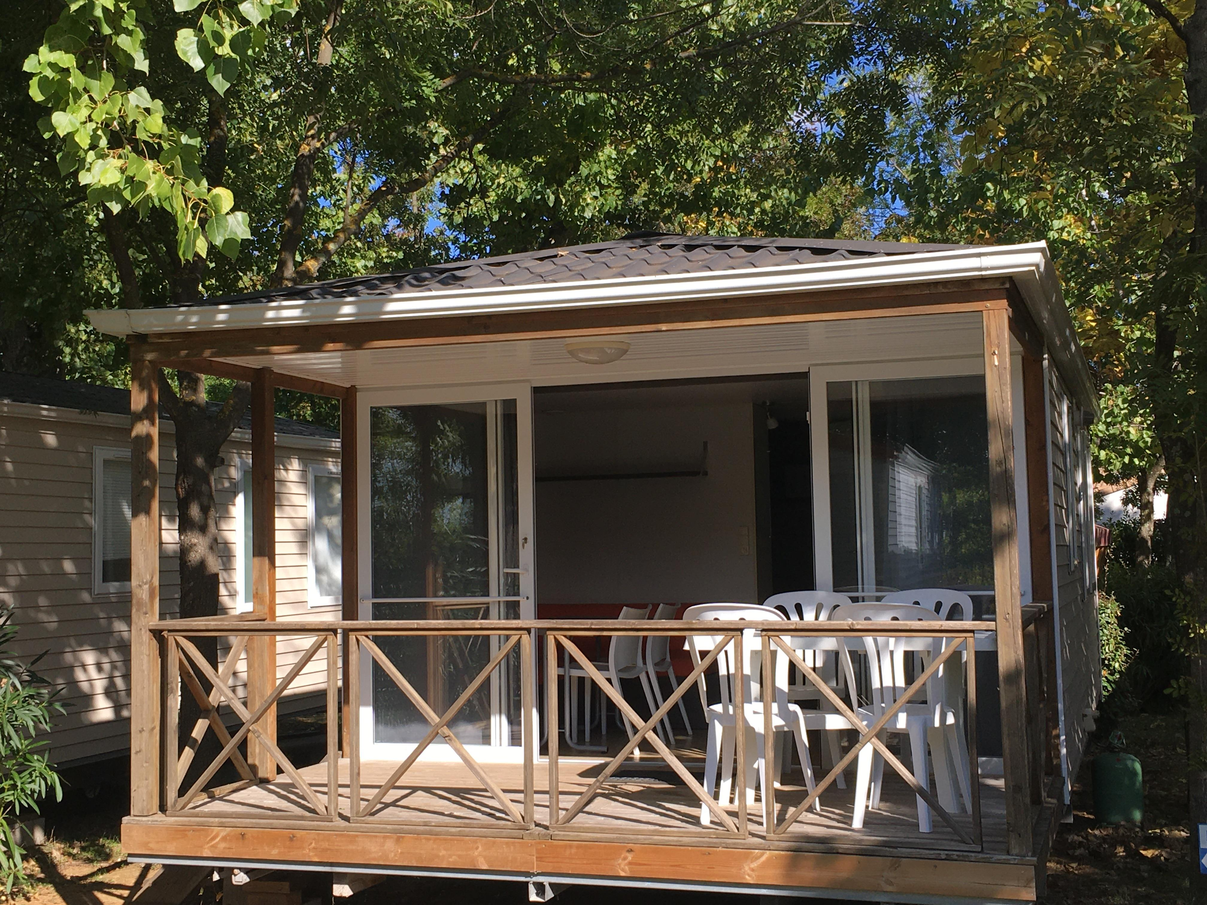 Location - Mobil Home Ohara Nature Confort 25M² (2 Chambres) + Climatisation - Flower Camping Le Fou du Roi