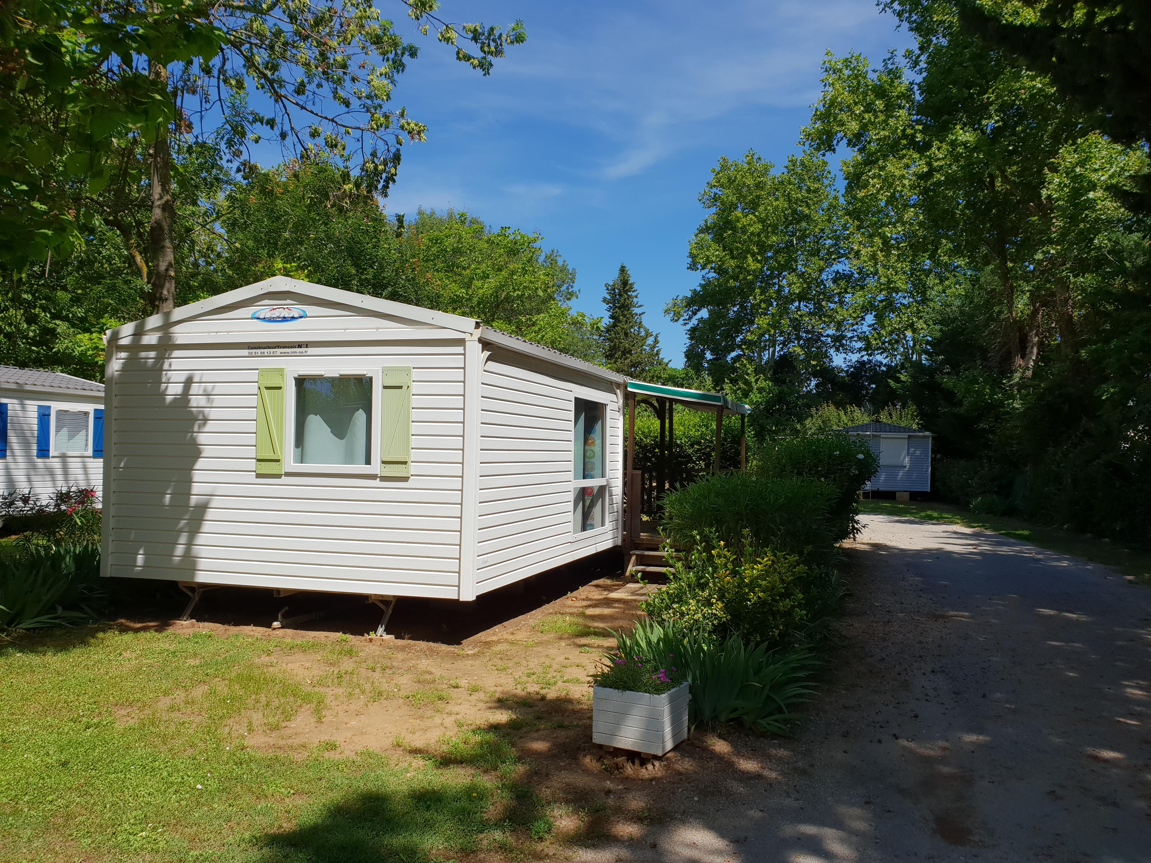 Location - Mobil-Home Loggia Confort 4/6Pers 29 M² 4/6 Pers - Flower Camping Le Fou du Roi