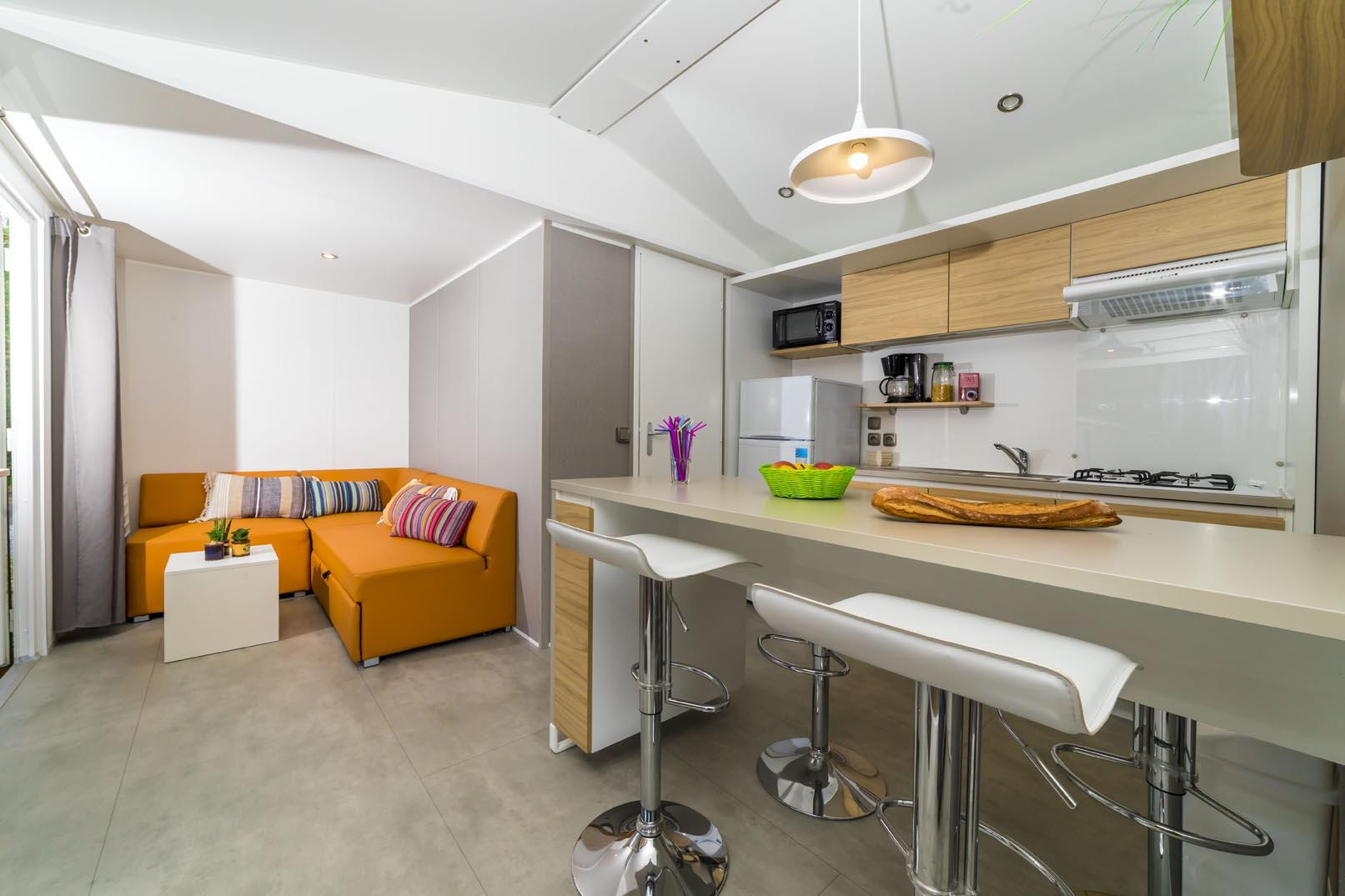 Location - Mobil Home Confort 2 Chambres - Camping Municipal Pipiou