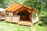 Rental - Tent Lodge 30M²  Without Toilet Blocks + Wifi - Camping Val de Boutonne