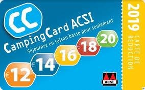 Acsi Card: 2 Pers + Car+ Caravan Or Tent / 2 Pers + Motorhome, Electricity And One Dog Includ