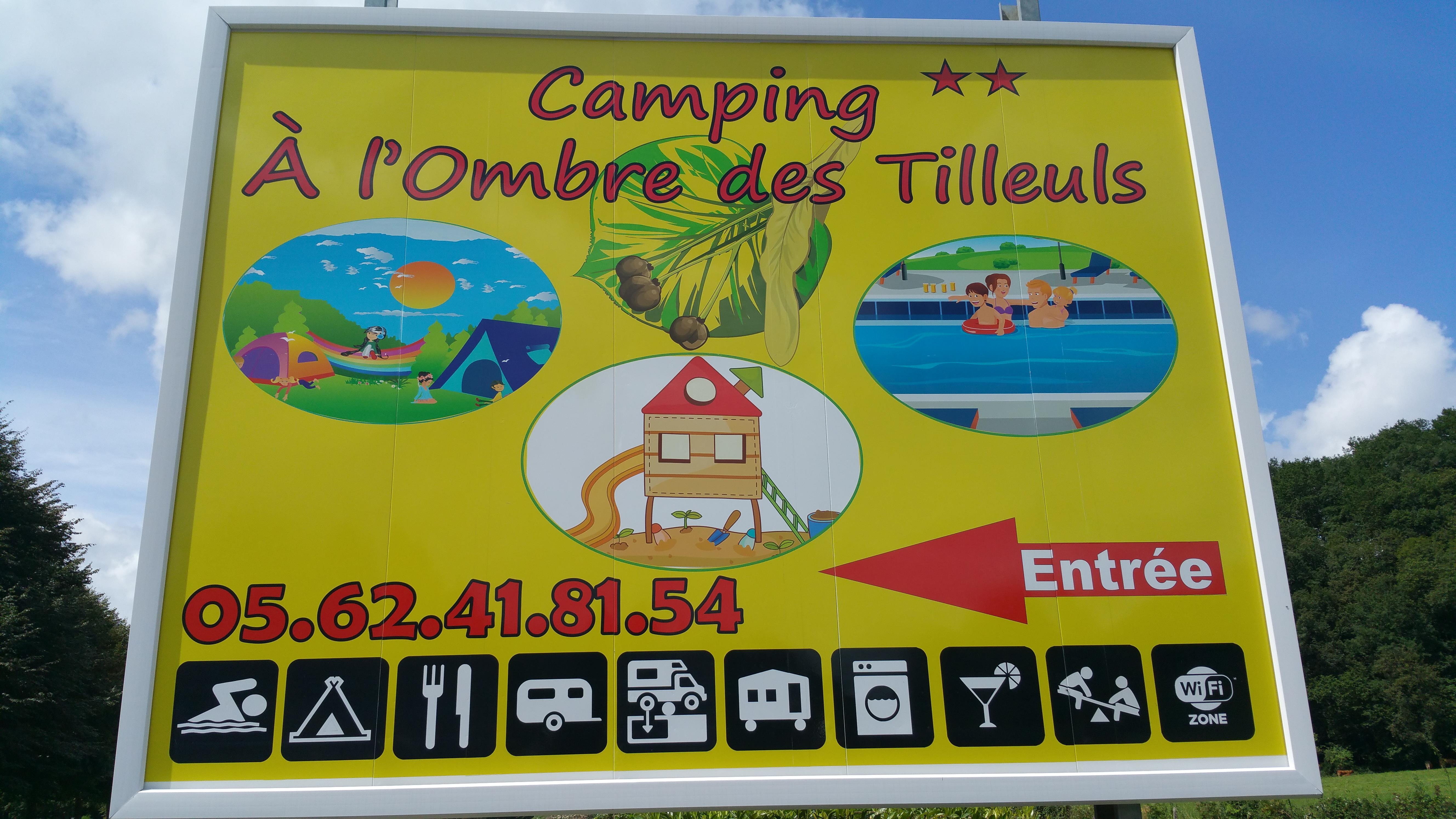 Services Camping A l'Ombre des Tilleuls - PEYROUSE