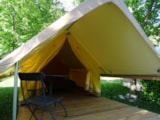 Rental - Canada Treck 12M² / 1 Bedrooms - Without Toilet Blocks - Camping Le Mouretou