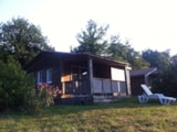 Rental - Chalet Forester In Wood With Terrace - 30M² - Camping NAMASTE