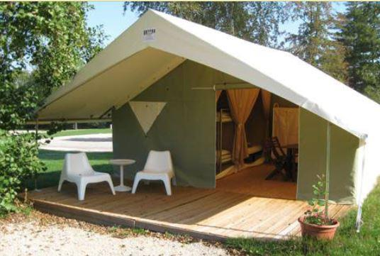 Rental   SIMPLY Equipped Tent Rented Night (without Toilet Blocks)    Camping Porte Des