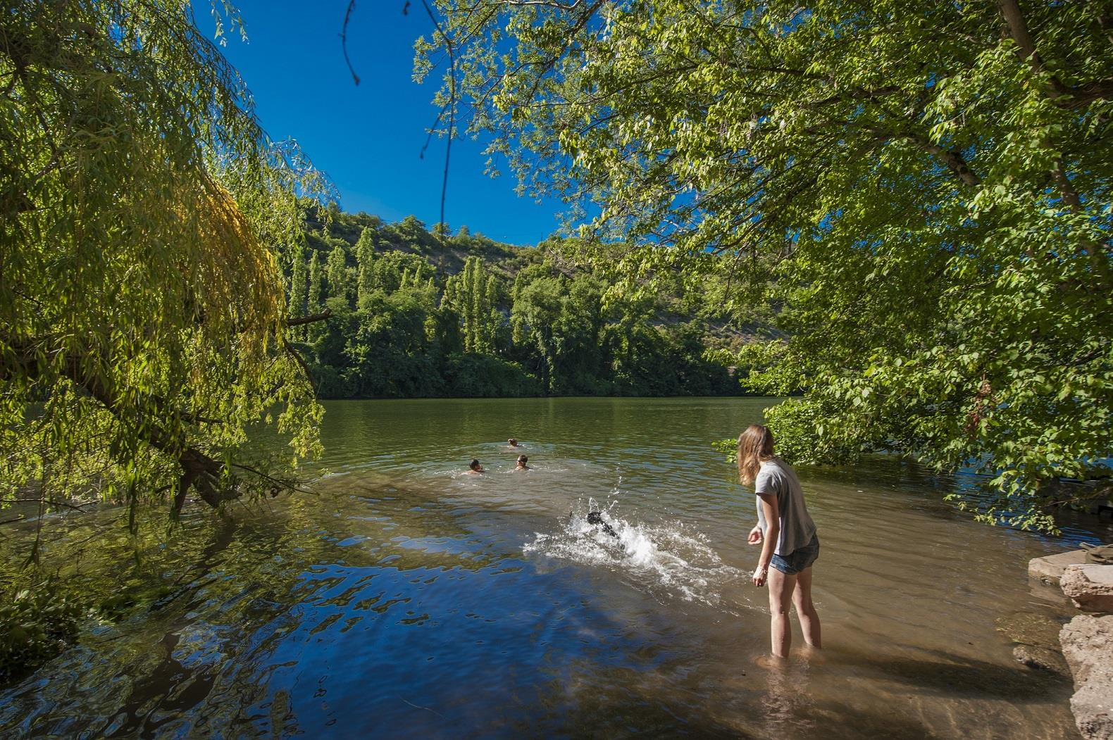 Camping Riviere de Cabessut, Cahors, Lot