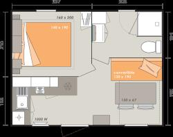 Mobile-Home Cahita1 Bedrooms