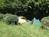 Pitch - Hiker or cyclist package (1 walker or 1 cyclist + 1 bike, 1 tent, no electricity) - Camping Qualité l'Eden de la Vanoise