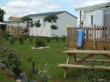 Rental - Mobile Home With Terrace Louisiane - Camping LES CHENES CLAIRS
