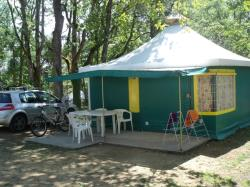 Bungalow tenda Pagan con sanitari