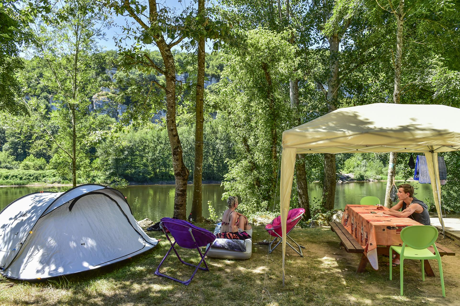 Camping la Riviere, Lacave, Lot