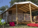 Rental - Bungalow ecolodge with shower, toilet (2017) - Camping Au Mica